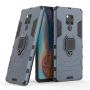 Bumper Case For Huawei Mate 20 X Cases Mate 20x Cover Back Hard PC Silicone 2 In 1 Ring Holder Armor Robot Anti-knock Ultra Thin