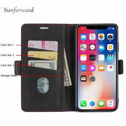 Business Skin Flip Case For Huawei Mate 20 Lite Cases Leather Anti-Knock Kickstand For Huawei Mate 20 Pro Cover Withcard Pocket