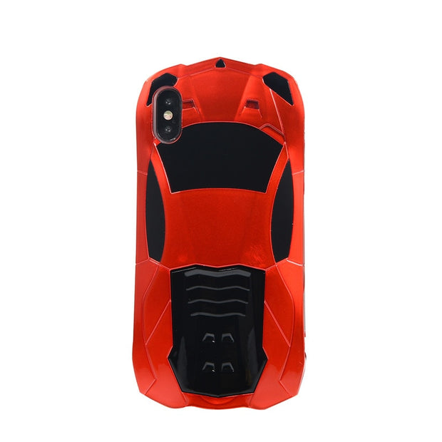 Business Sport Racing Car Model Design Mobile Phone Case For IPhone X XS Back Cover Kickstand Anti-knock Protection Fitted Bags