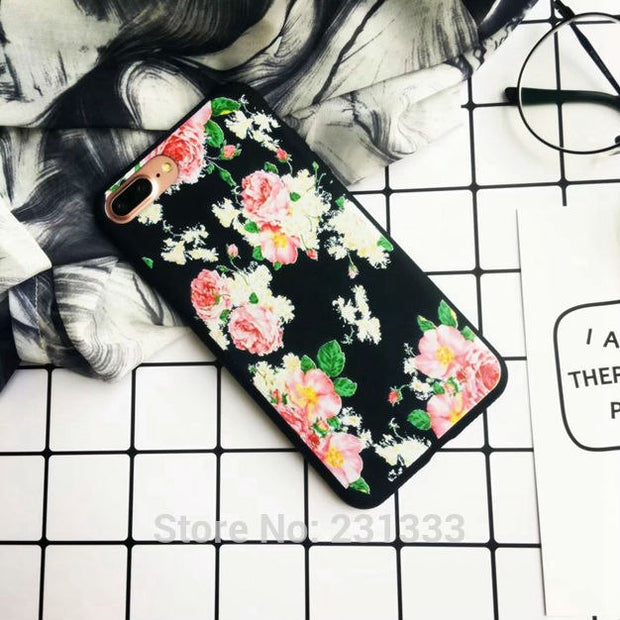 C-ku Unicorn Flower Matte Soft TPU Case For Samsung Galaxy S8 PLUS Iphone X 8 7 PLUS I7 6 6S I6 Cartoon Skull Skin Cover 100pcs