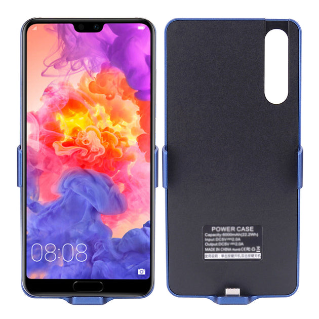 promo code 96ba6 5064b CASEWIN Battery Charger Case For Huawei P20 Pro 6000mAh Power Bank Charging  Case External Backup Charger Power Bank Phone Case