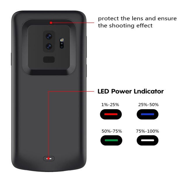 classic fit f6964 c671c CASEWIN Battery Charger Case For Samsung Galaxy S9 Plus Battery Case  5200mAh Power Bank External Backup Charger Phone Case