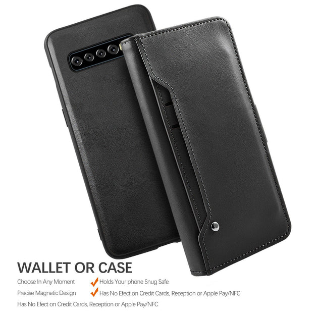 CASEWIN For Samsung Galaxy S10 Plus Case PU Leather Flip Stand Detachable  Wallet Case Rotate Card Pocket Vehicle-mounted Magnet