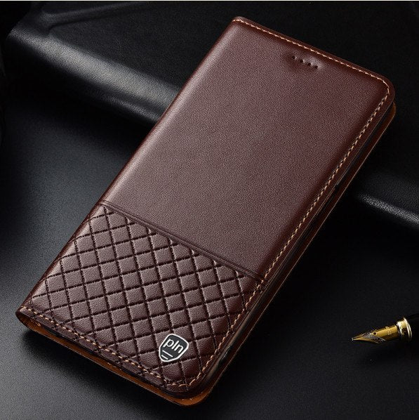 brand new 736a6 b2151 CH12 Genuine Leather Phone Bag With Card Holder For Blackberry Key2 Case  For Blackberry Key 2 Flip Case Free Shipping