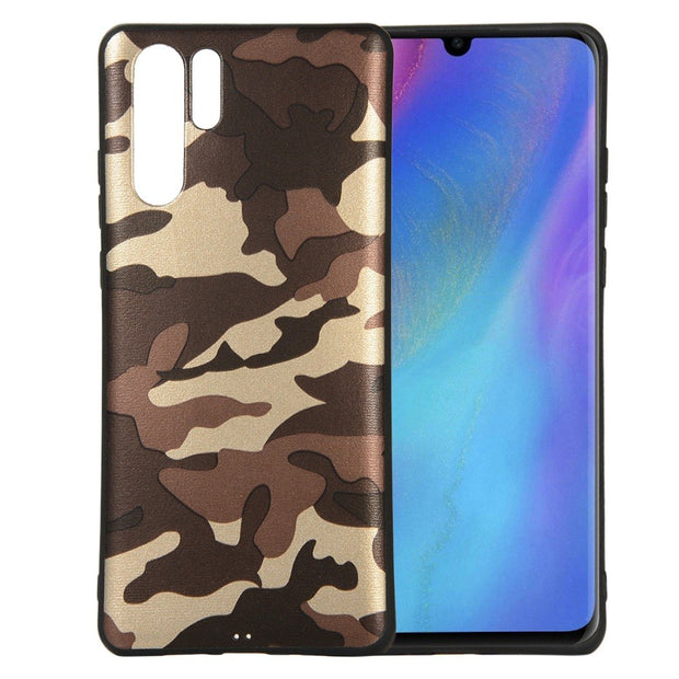 Camouflage TPU Case For Huawei P30 Solid Phone Cover Case For Huawei Pro P30 3 COLORS