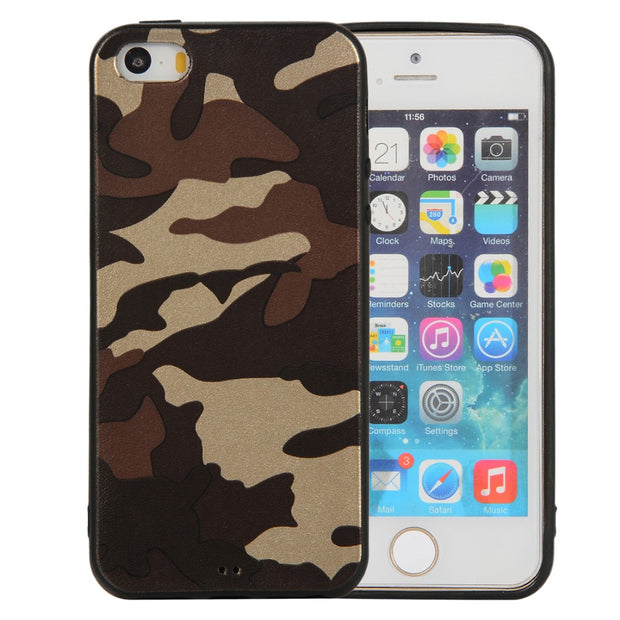 Camouflage TPU Case For IPhone 5 5S 6 6S 6 PLUS 7 8 7 PLUS Phone Cover Case For X XS XR XS MAX 3 COLORS