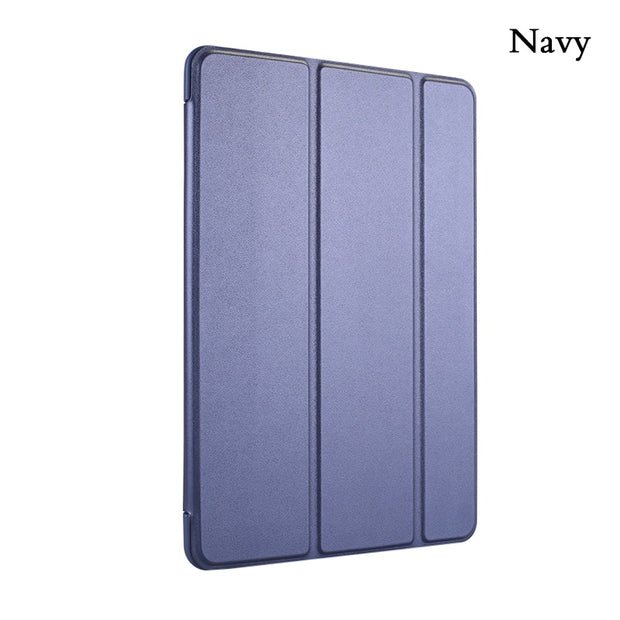 Case For Apple Tablet Pad Air 1 2 Case PU Silicone Soft Trifold Stand Auto Sleep/Wake Up Smart Cover For Apple Pad Mini 1 2 Case
