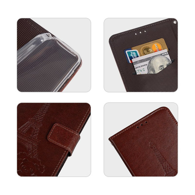 Case For Elephone A5 Cover Luxury Leather Flip Case For Elephone A5 Protective Phone Case Back Cover
