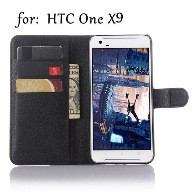 Case For HTC One X9,Mobile Phone Shell And Soft Shell Leather Jacket Al Car,Wallet Style Cell Phone Shell.9 Colors.