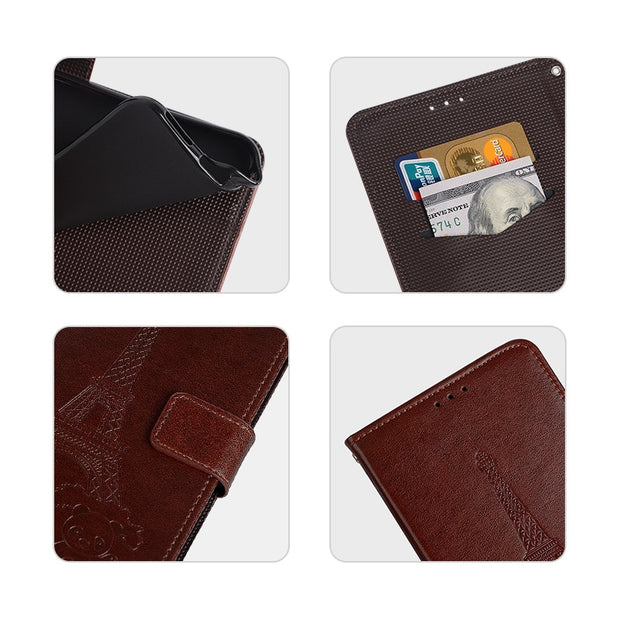 Case For Vernee T3 Pro Cover Luxury Leather Flip Case For Vernee T3 Pro Protective Phone Case Back Cover