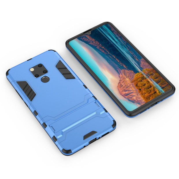 Case Mate 20 X Cases For Huawei Mate 20x 20 Lite Back Cover Armor Hard PC Silicone Shell Shockproof Robot Kickstand Luxury Black