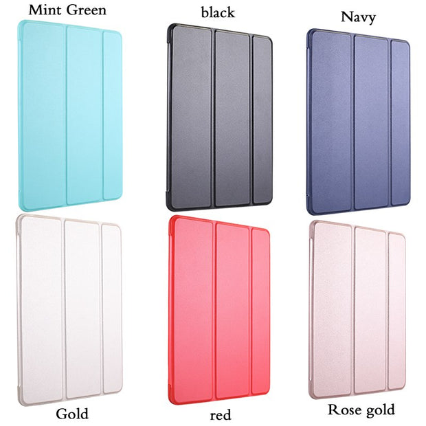 Case For Pad Mini 4 Case PU Leather Silicone Soft Back Trifold Stand Auto Sleep/Wake Up Smart Cover