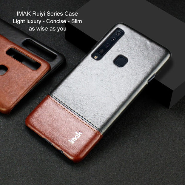 Case For Samsung Galaxy A6s A9s A7 2018 Card Slot PU Leather Cases IMAK Brand Luxury Slim Concise Series Phone Cover