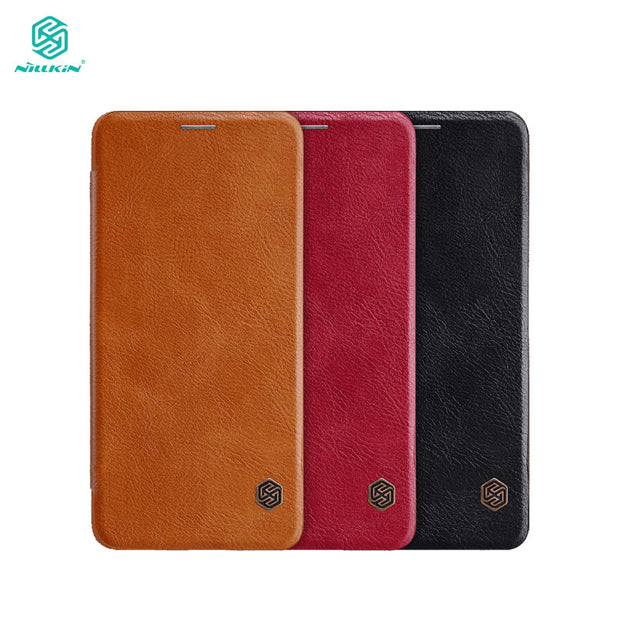 Case For Samsung Galaxy A8 Star / A9 Star Nillkin Qin Series PU Leather Flip Cover Sfor Samsung A8 Star Case