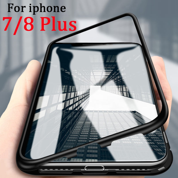 Case On For Iphone 7 Plus For IPhone 7plus Coque 8 Plus 8plus Cover Flip Magnetic Cases Bumper Fundas I Phone Ihone Protection