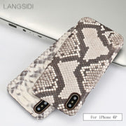 Cases For IPhone 6 Plus Case Luxury Handmade Genuine Leather Python Skin Back Case