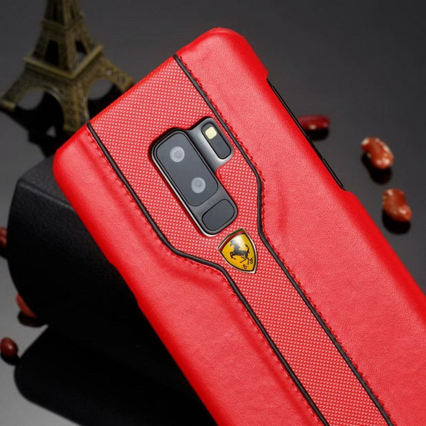 Cases With Ferrari Logo For Samsung Galaxy Note 8 Note 9 & S8 S8 Plus & S9 S9 Plus Case PU Leather Cover Phone Funda Coque