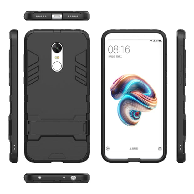 Coque Case On For Xiaomi Redmi 5 Plus Case Xiomi Redmi 5 Plus Cover Ksiomi Xaomi Hard Armor Red Luxury Stand Full Original