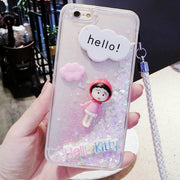 Cute Quicksand Baby Doll Silicone Soft Phone Case For 8plus 7 7plus 6 6splus Case For Iphone 6s Fundas Cover