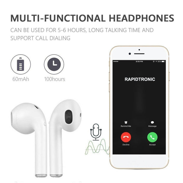 Earphone Magnetic Charger Box Earbuds I9 TWS Bluetooth Earphones Mini Wireless Headset Stereo Headphones All Smart Headphone