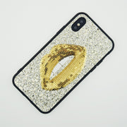 FACEVER Fashion Sequin Sexy Girl Lip Phone Cases For IPhone 6 Plus 6S 6S Plus 7 7 Plus 8 8 Plus X Soft Lovely Glitter Back Cover