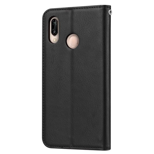 Fashion Flip Real Leather Wallet Phone Case For Huawei P20 Pro Kickstand Card Holder Cover Purse For P20 Lite NOVA3E Capa Shell