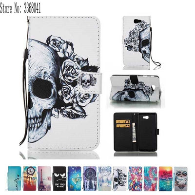Flip Case For Samsung Galaxy J7 J 7 Prime J7Prime Duos On7 2016 SM-G610F SM-G610Y SM-G610K SM-G610S Painting Phone Leather Cover