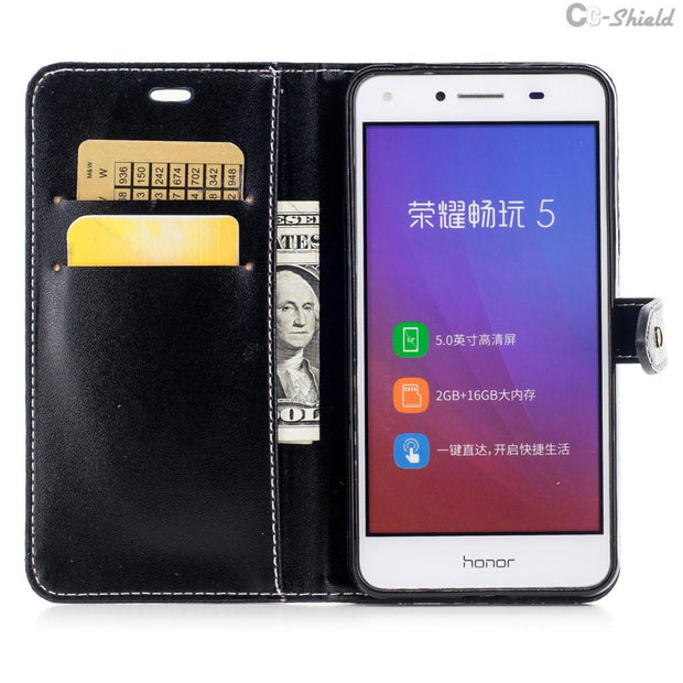 Flip For Huawei Y52 CUN L21 U29 Y 5 2 Case For Huawei CUN-L21 Y5 Y 5 II CUN-U29 Y5II CUN-L22 Case Phone Leather Cover Cases Bag
