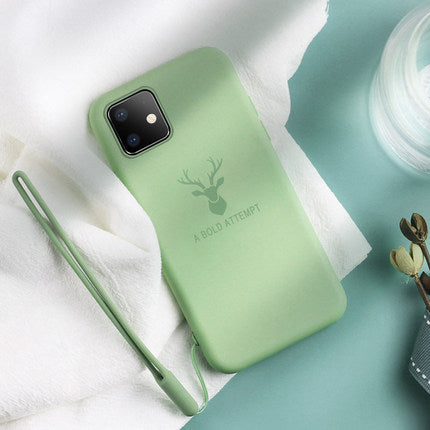 For Apple iphone 11 Case Soft Liquid Silicone Deer Slim Skin Coque Protective back cover Case for iphone 11 pro 11max iphone11