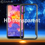 For Huawei Honor 10 Lite Case Shockproof Bumper Silicone PC Transparent Clear Cover Luxury Armor Phone Case Protective Shield