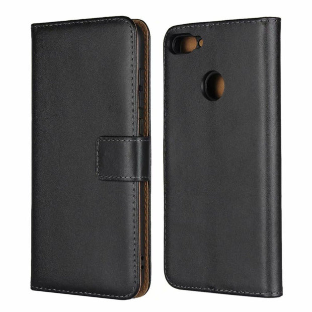For Huawei Honor 9N 9i Wallet Case Kickstand Book Card Protection Genuine Leather Shell Cover