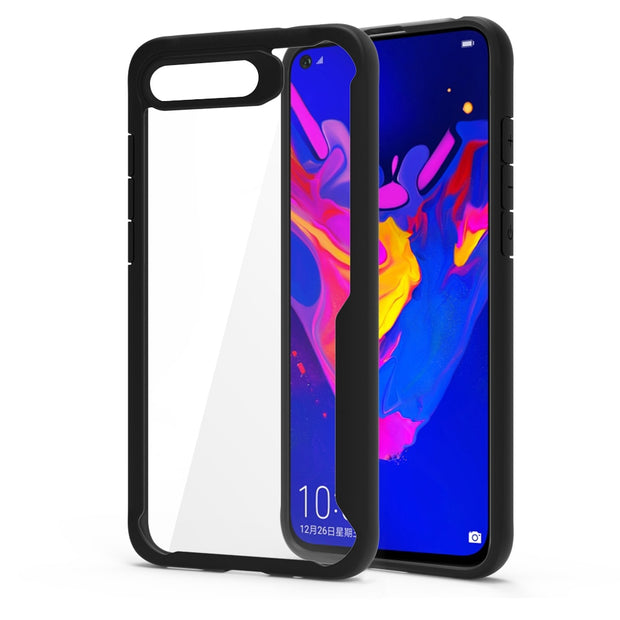 For Huawei Honor View 20 Case Shockproof Bumper Silicone Transparent Cover Luxury Honor V20 Armor Phone Case Protective Shield