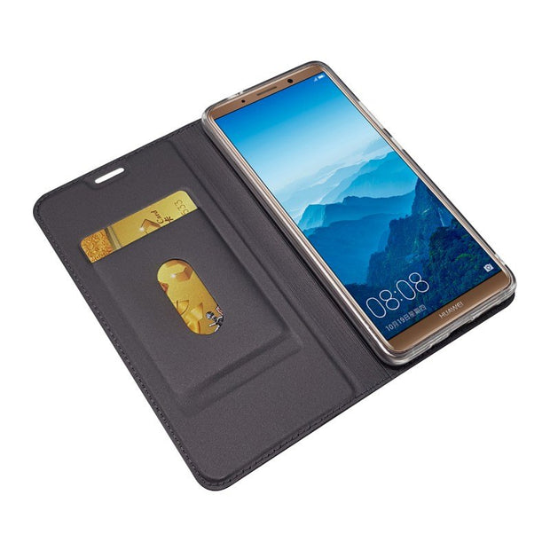 For Huawei Mate 10 Pro Flip Case Magnetic Book Kickstand Protective Shell Wallet Leather Cover