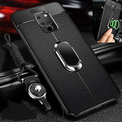 For Huawei Mate 20 X Case Huawei Mate 20X Magnet Car Holder Case Soft Tpu Cover Mate 20X Mate 20 Pro Lite Phone Cases Rope