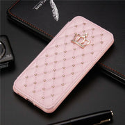 For Huawei P20 Pro/P20 Lite 2017 Case Cover Lip Luxury Leather Soft Back Silicon Book Funda Protect Phone Case For Huawei P20