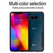 For LG V40 ThinQ Case Shockproof Bumper Silicone PC Transparent Clear Cover For LG V40 ThinQ Armor Phone Case Protective Shield