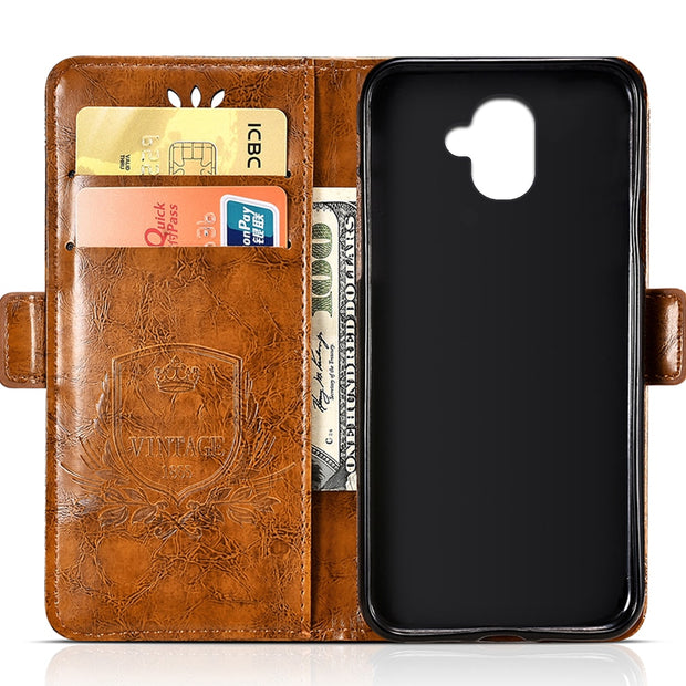 For Leagoo KIICAA MIX PU Leather Flip Cover Protectiv Phone Case With Card Slot Cash Clip Magnetic Closu For Leagoo KIICAA MIX