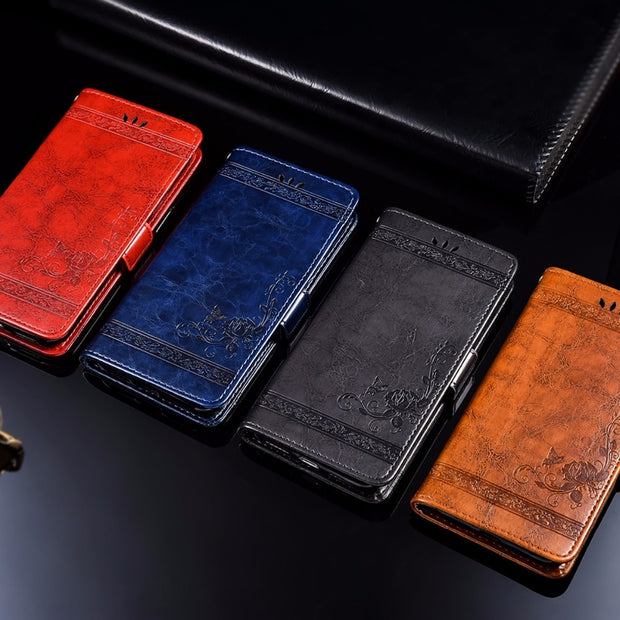 For Leagoo KIICAA Power PU Leather Flip Cover Protectiv Phone Case With Card Slot Cash Clip Magnetic Closu For KIICAA Power