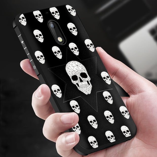 For Nokia 6 Case 5.5 Inch Soft TPU Silicone 3D Relief Painting Back Cover For Nokia 6 Phone Case Capa Funda