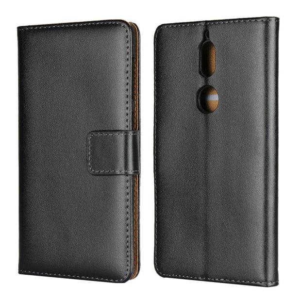 For Nokia 7 Plus Wallet Case Protection Book Stand Card Genuine Leather Flip Phone Cover