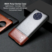 For Nokia 9 PureView Case IMAK Brand Light Luxury Slim Concise PU Leather Ruiyi Series Phone Cases