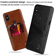 For Nokia X7 / Nokia 7.1 Plus Case Card Slot PU Leather Cases IMAK Brand Luxury Slim Concise Series Phone Cover