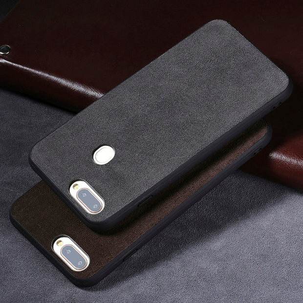 For OPPO R11s Plus Case Genuine Leather Cases For OPPO R9 R9s Plus Suede Leather Phone Cover Hand-made Custom Processing