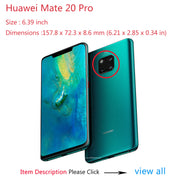 For On Case Huawei Mate 20 X 20X Mate20 Lite Pro Cases For Huawei P20 Pro Honor 9 10 Cover Hard Tempered Glass TPU Edge Color