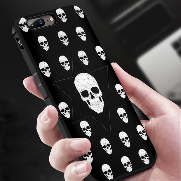 For OnePlus 5 Case 5.5 Inch Soft TPU Silicone 3D Relief Painting Back Cover For OnePlus 5 Phone Case