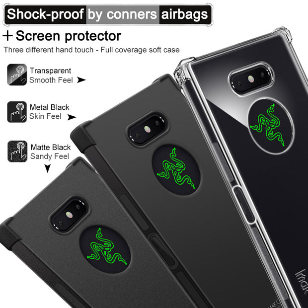 For Razer Phone 2 Case IMAK Brand Shockproof Air-Bag Series Soft TPU Back Cases, With Gift Screen Film