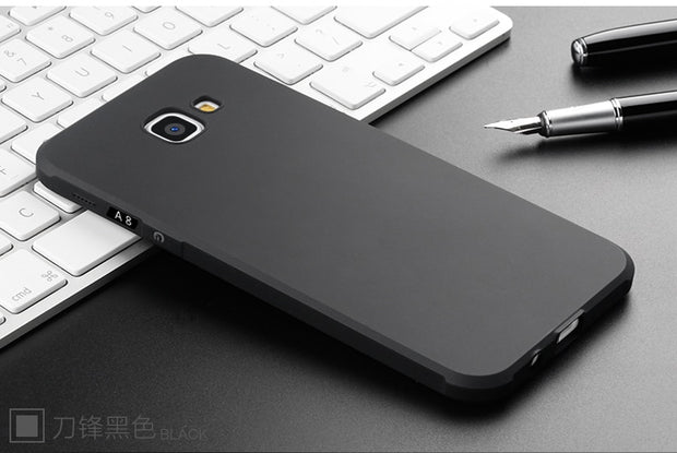 For Samsung Galaxy A8 Case 3D Anti-knock Armor Soft Silicon Protective Phone Back Cover For Galaxy A8 Slim TPU Phone Capa Fundas