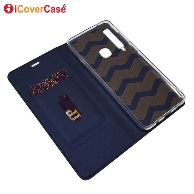 For Samsung Galaxy A9 2018 Case Luxury Magnetic Leather Flip Cover Coque For Samsung Galaxy A7 2018 Case Stand Wallet Accessory