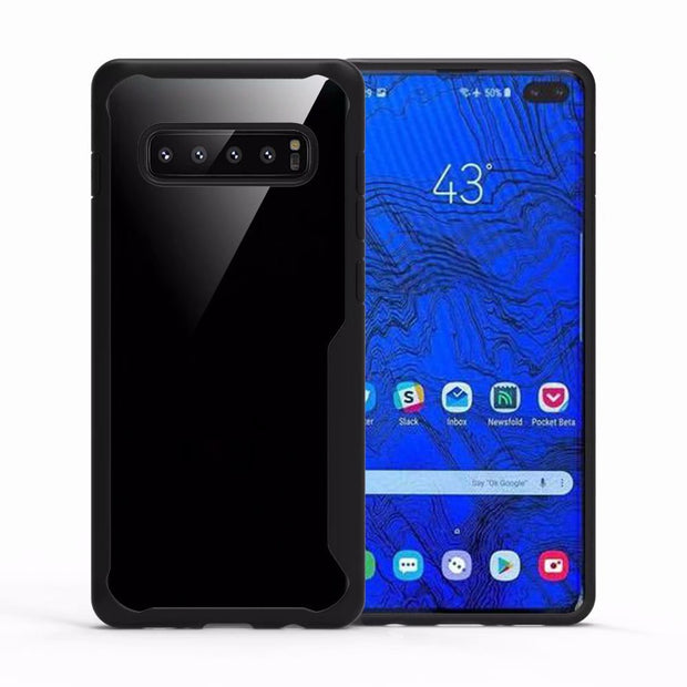 For Samsung Galaxy S10 Plus Case Shockproof Bumper Silicone Transparent Cover For Galaxy S10 Lite Armor Case Protective Shield