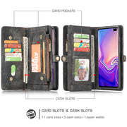 For Samsung Galaxy S10 Plus S10 Case Luxury CaseMe Business Leather Magnetic Wallet Case For Galaxy S10E S10 Lite Flip Cover